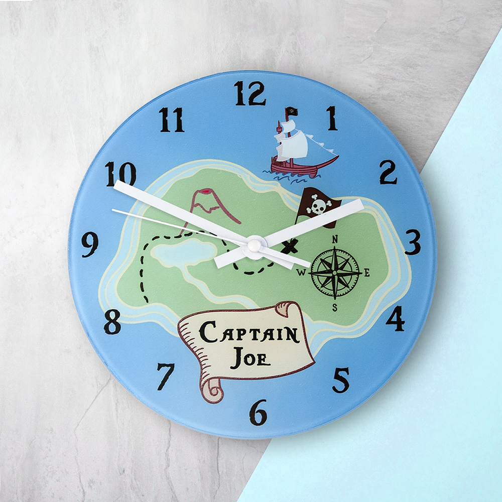 Arrrr! Personalised Pirate Wall Clock