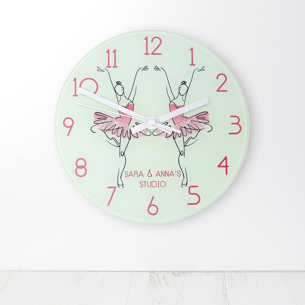 Graceful Ballet Dancer Personalised Wall Clock