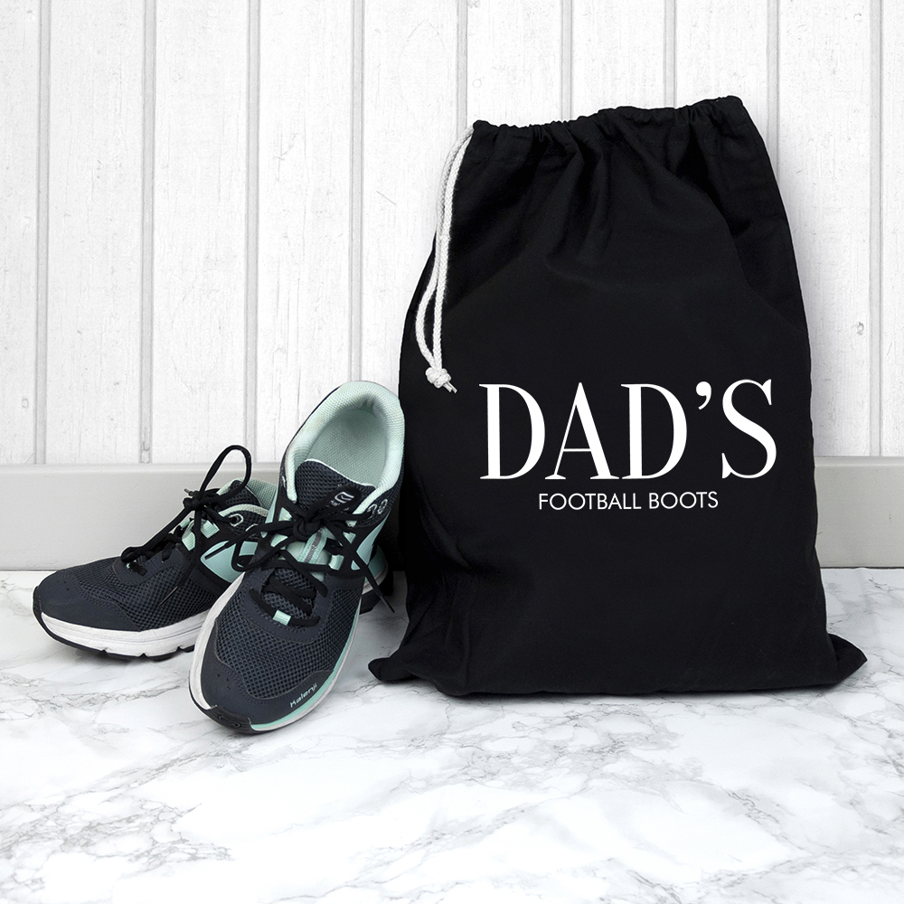 Personalised Black Boot Bag