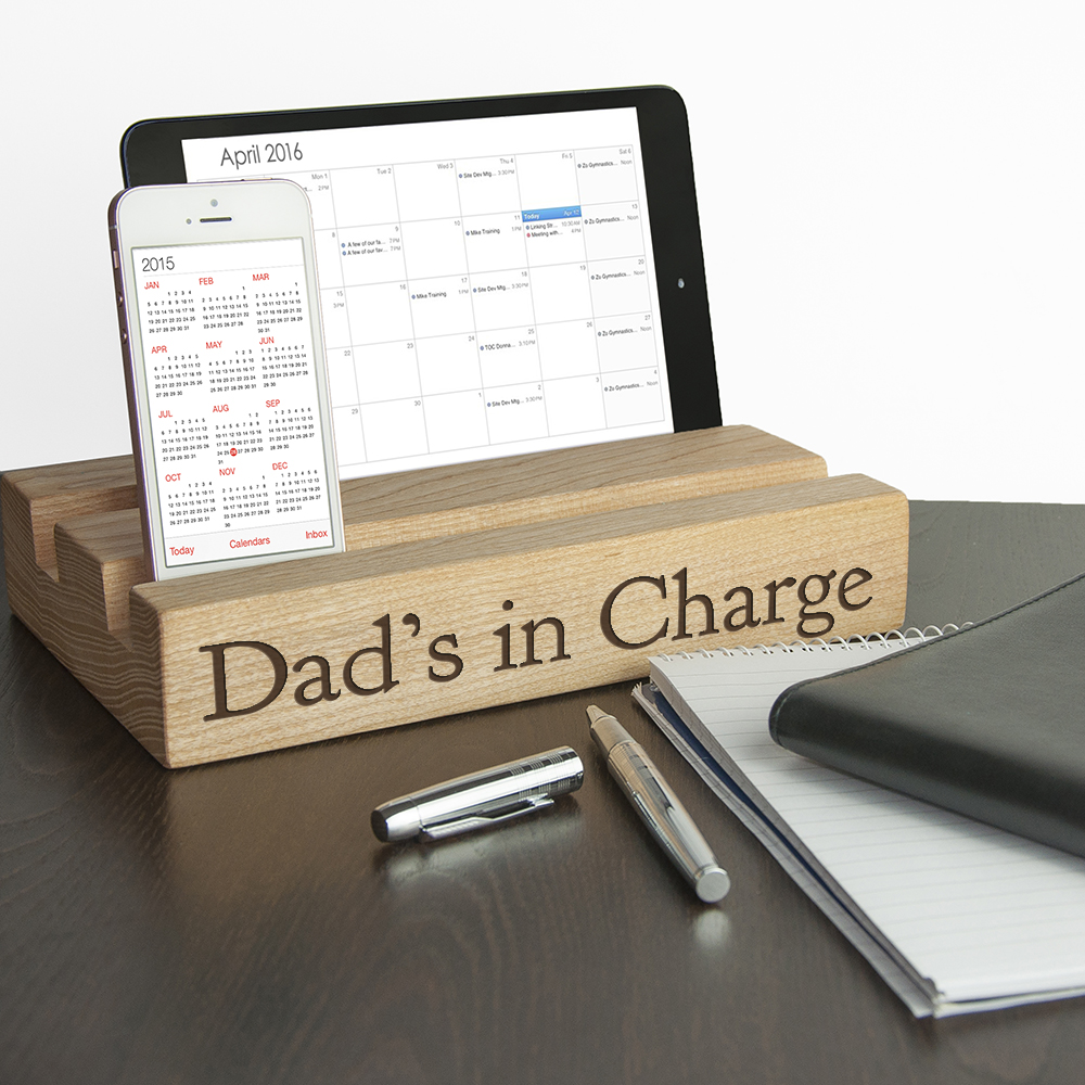 Personalised Double Office Desk Tablet Holder