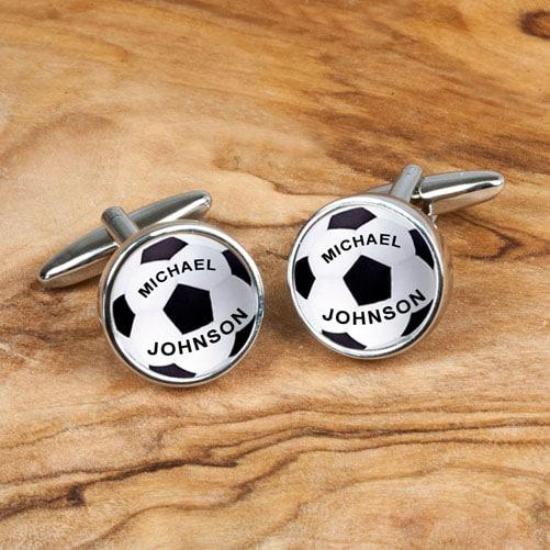 Personalised Football Cufflinks