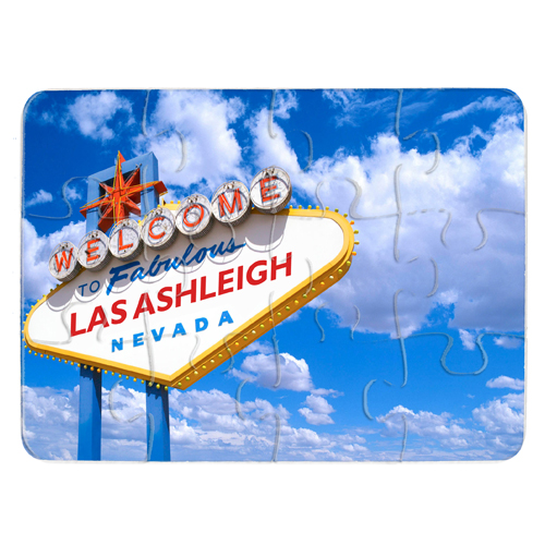 Personalised Las Vegas Sign Jigsaw Small