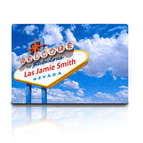 Personalised Las Vegas Sign Jigsaw