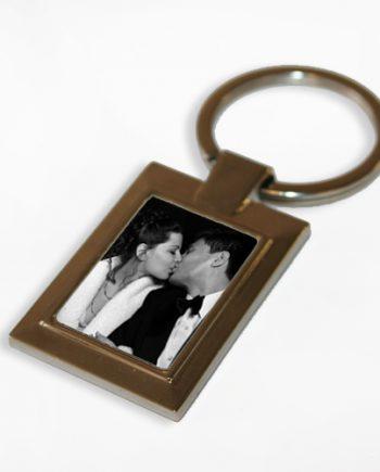 Personalised Rectangle Photo Keyring
