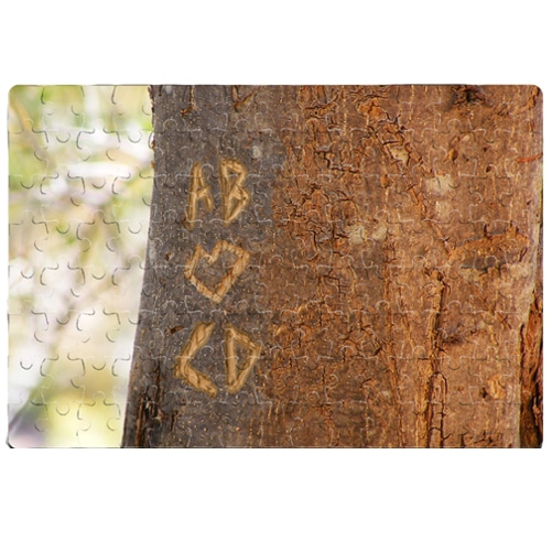 Personalised Tree Carving Jigsaw Small